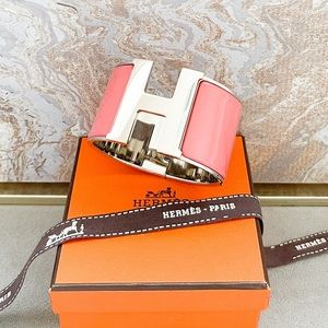 Hermès Enamel Extra Wide Clic Clac H Bracelet